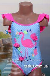 Купальник детский слитный Фламинго голубой, электрик, синий