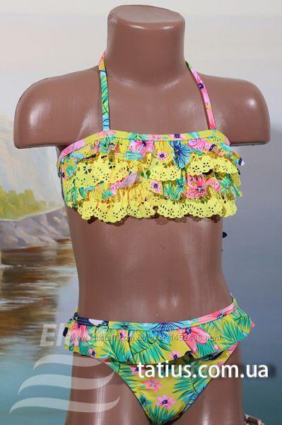 Раздельный детский купальник Цветы, цвета в ассортименте