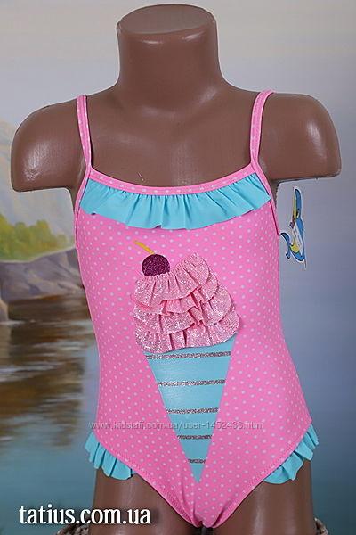 Купальник детский слитный Мороженое розовый, голубой, синий