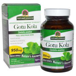 Готу кола Gotu Kola, 950 мг, 90 капсул, Nature&acutes Answer