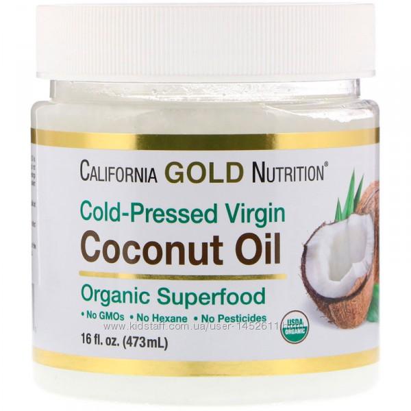 Органическое нерафинированное кокосовое масло 473 мл