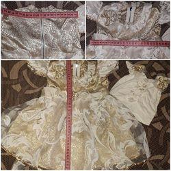 Платье и шапочка 9-12мес