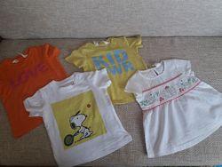 Стильная футболка, туника H&M 6- 9 мес.