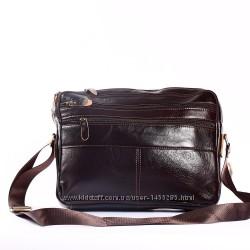 Компактный мужской портфель, кожа натуральная