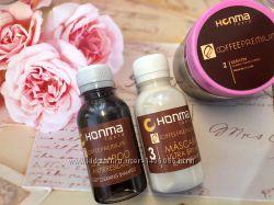 Набор для волос кератин honma tokyo coffee premium all liss 3100мл