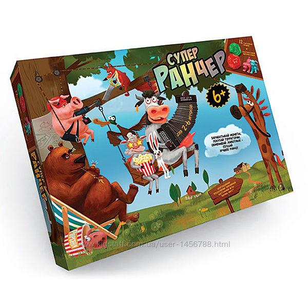 Настольная игра Danko Toys Супер Ранчер, настолка, настольная детская игра