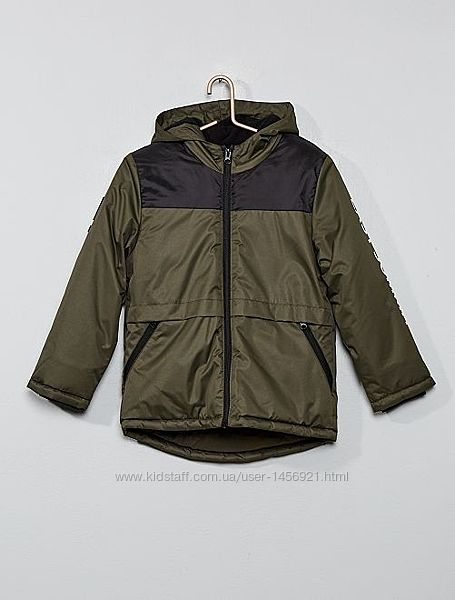 Теплая на флисе демисезонная куртка холодная осень Kiabi 110 на 104 р.
