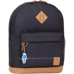 Рюкзак Bagland Молодежный дизайн 17 л. черный с кожаным дном