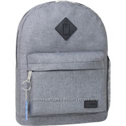 Рюкзак Bagland Молодежный дизайн 17 л. серый меланж