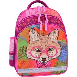 Рюкзак школьный Bagland Mouse ранец ортопедический лиса в очках  портфель