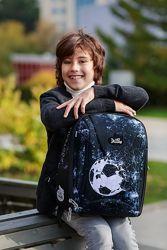Ранец для мальчика DeLune 1-4 класс 7-153 с мячом портфель школьный Италия