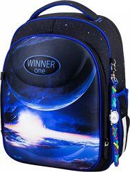 Ранец школьный рюкзак Winner One 6018 космос часы для мальчиков