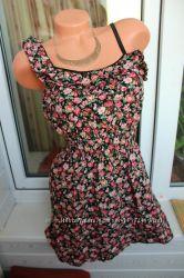 Бомбезное коротенькое платьице от Pink Bouligue, размер указан 14, будет н