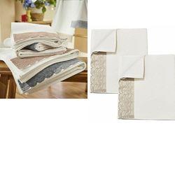 Махровое полотенце с кружевом, биохлопок, Miomare Германия, 100x50
