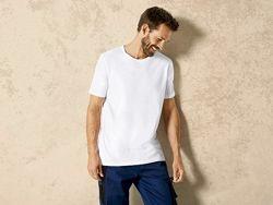 Уценка. Мужская белая хлопковая футболка Livergy Германия