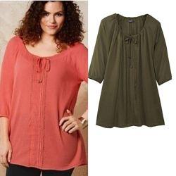 Женская хлопковая блуза туника рубашка блузка Esmara Германия