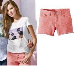 Крутые женские стрейчевые джинсовые шорты Esmara Германия