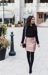 Роскошная нарядная мини юбка пайетки Heidi Klum от Esmara Геомания