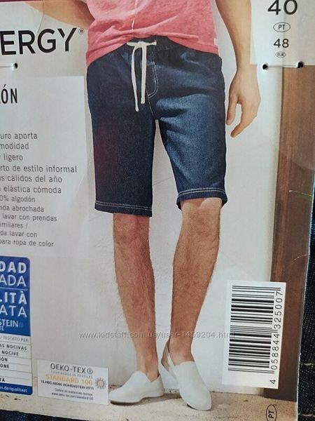 Мужские джинсовые шорты бермуды на резинке Livergy Германия
