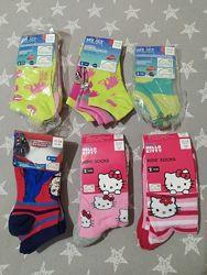 Хлопковые детские носки носочки, есть короткие Lupilu Германия