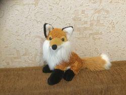 Лиса, лисичка, лисенок мягкая игрушка