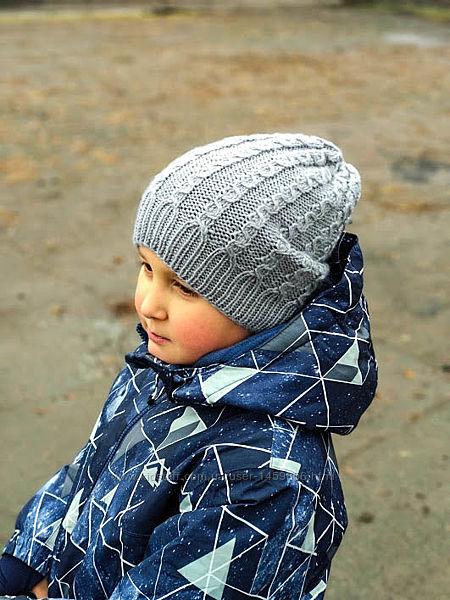 Демисезонная шапка, модель унисекс. На заказ