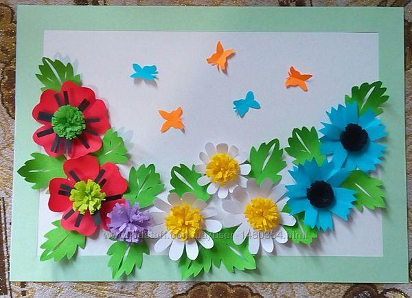 Картина Поделка Цветы Оригами