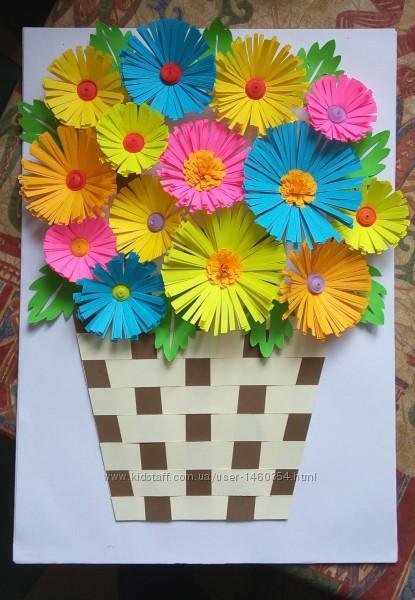 Картина Корзина с цветами Весна цветы