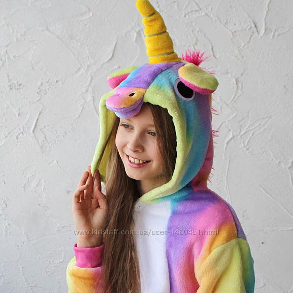 Пижама-кигуруми Футужама Единорог радужный зефирный