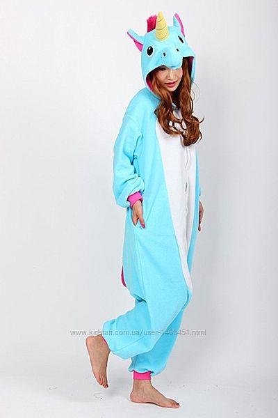 Пижама-кигуруми Футужама Единорог голубой