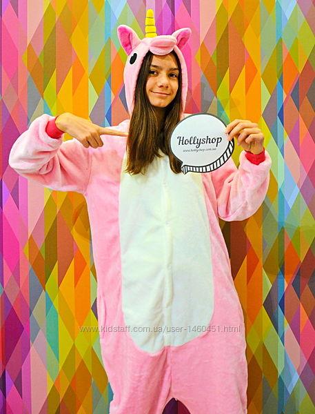 Пижама-кигуруми Футужама Единорог розовый