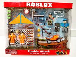 Набор роблокс zombie attack roblex коллекционные фигурки  дельтаплан
