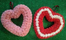 Сердце из роз. Handmade. Подарок День Святого Валентина