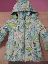 Куртка демисезонная осень-зима для девочки на 4 - 5 лет