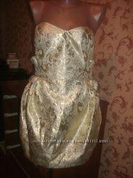 Новое Платье-Бюстье mis-behave vintage размер 12, евро 38