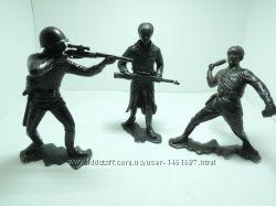 Солдатики солдаты ДЗИ СССР большие пластик 15см красноармейцы