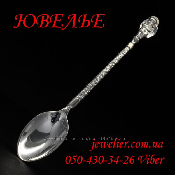 Ложка серебряная Ангел кофейная 925 пробы белая