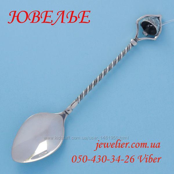 Ложка серебряная С колокольчиком кофейная 925 пробы