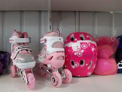 Набор роликов scooter Розовый, фиолетовый, красный, синий