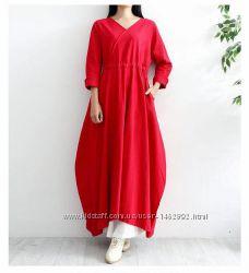 Льняное платье бохо стиль. Цвета, размеры все,