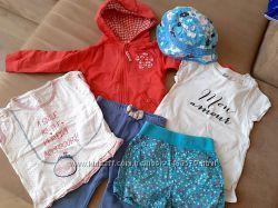 Набор пакет комплект шорты 2 футболки худи панама лосины на рост 80 см
