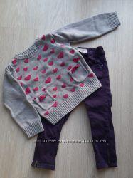 Набор штаны джинсы свитер кофта h&m 86-92