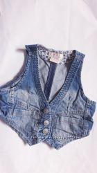 жилет джинсовый для девочки 3-4 лет H&M