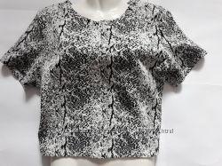 блуза фактурная, топ H&M p. M