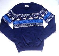 свитер с новогодним орнаментом р. XS-S Next