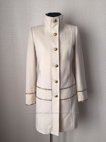 Оригинальное пальто 80шерсть, 20кашемир от laltramoda, размер ит 42
