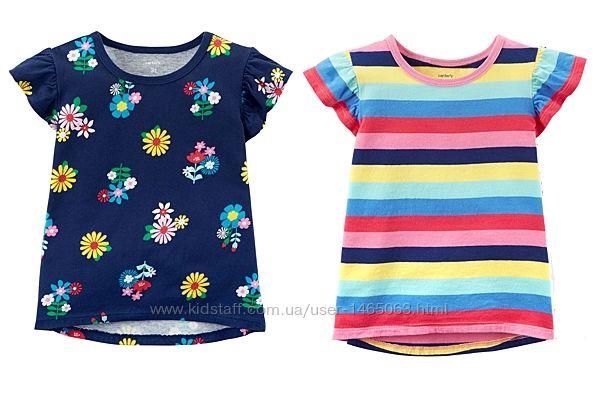 Яркие футболки Сarter&acutes топы  для девочки Сarters