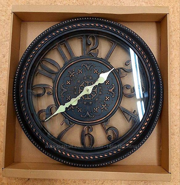 Часы настенные, годинник Skeleton D40 черные