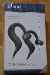 Спортнивные наушники DENON C160 Wireless black новые запечатанные