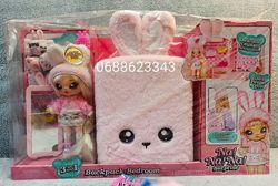 Na na na surprise 3-в-1 спальня и рюкзачок На на на розовый зайчик 569732
